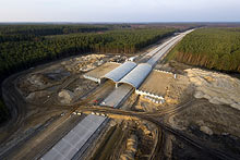 Construction of A2 motorway, section Świecko – Nowy Tomyśl.